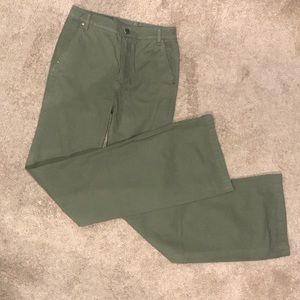 NWOT Tory Burch High Rise Sage Twill Flare Pant